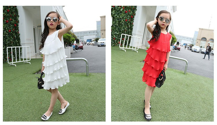 chiffon girls layered dress little teenage kids girl summer dress 2016 white red midi long dresses for girl clothes kids sundress 5 6 7 8 9 10 11 12 13 14 15 16 years old little teenage big girls dresses sleeveless children clothing (3)