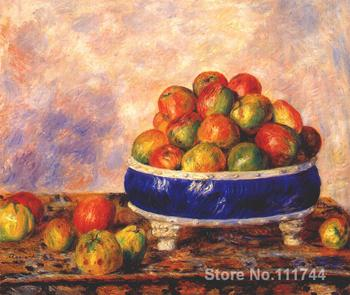 oil paintings still life Apples in a dish by Pierre Auguste Renoir artwork High quality Hand painted