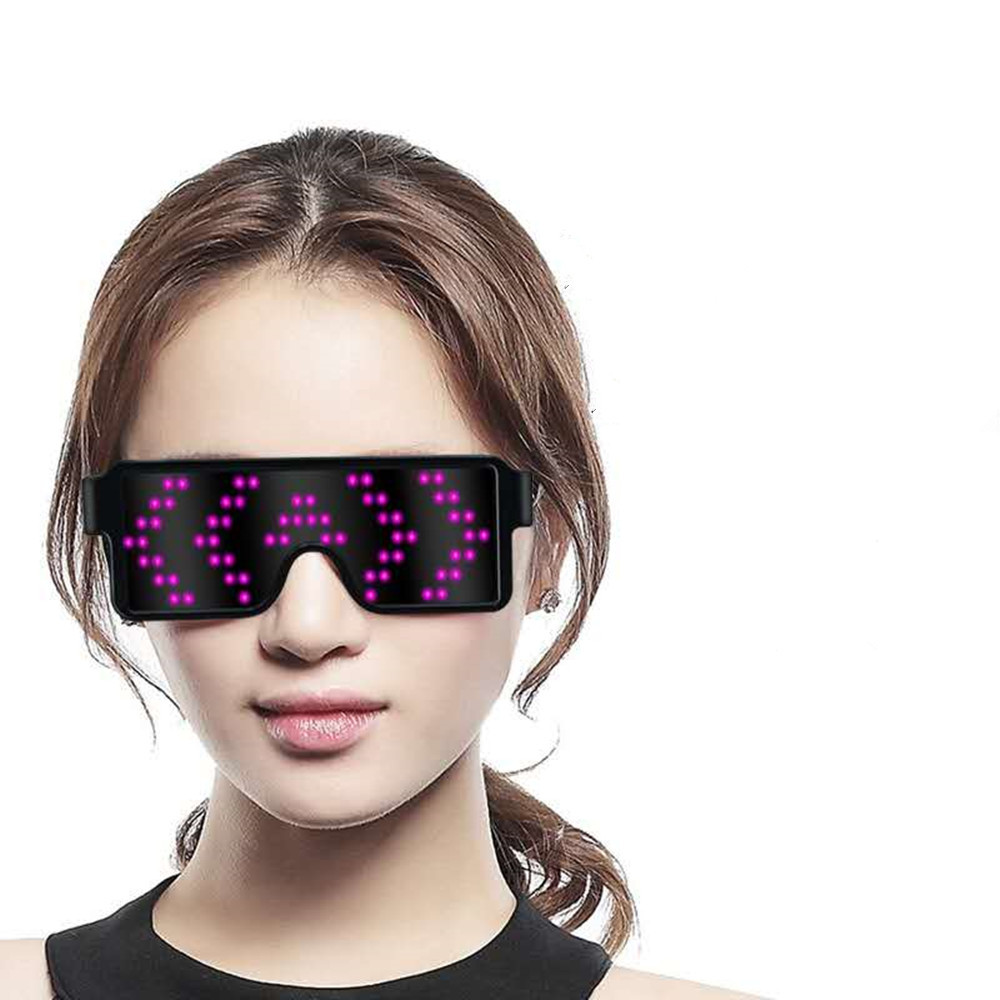 2019 Christmas Night Fashion New Led Light Up Sunglasses Shades Flashing Blink Glow Glasses Party Rave