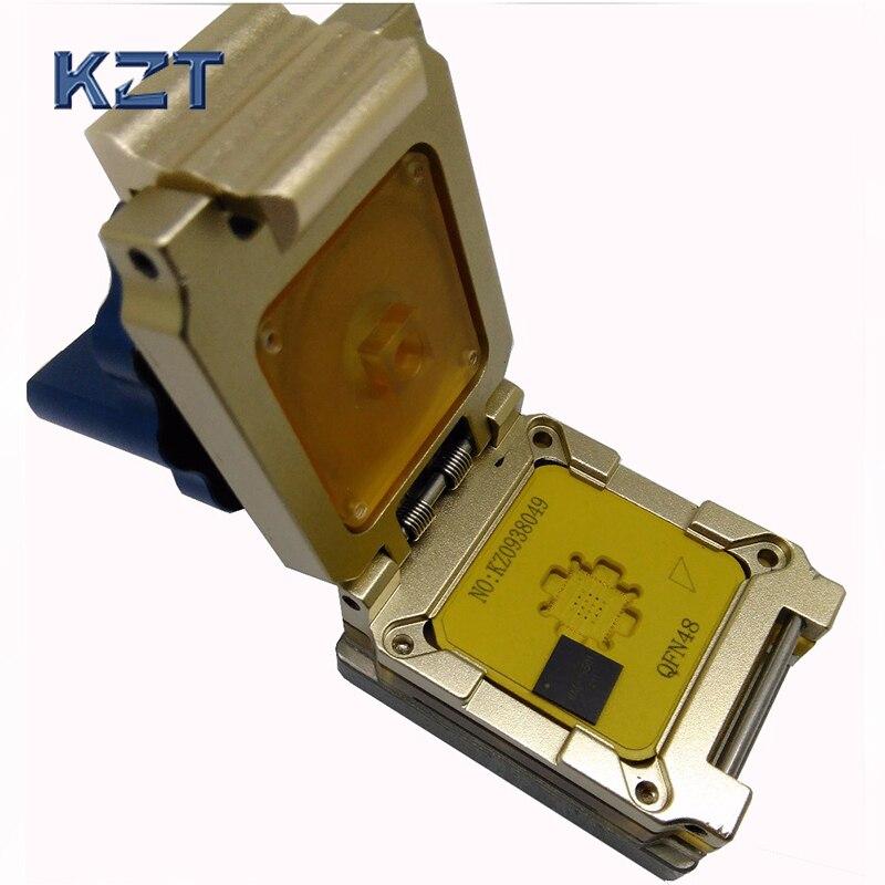 QFN48 mlf48 IC Тесты разъем ic549 0484 010 g гореть в Разъем раскладушка сплава раскладушка с ручкой флэш адаптер Программирование гнездо