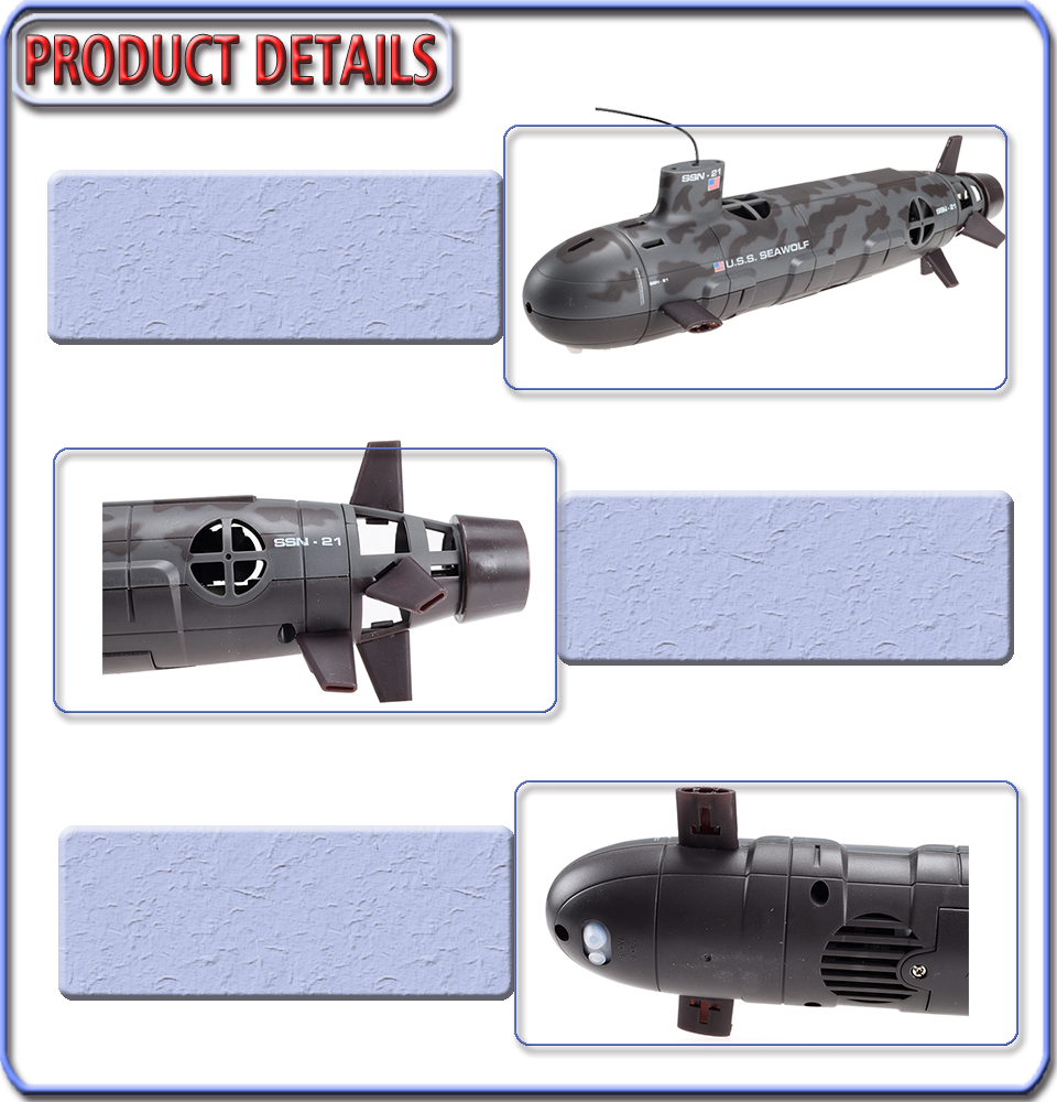 Rc 本日の割引 潜水艦 ビッグリモートコントロールレーシングカー電子楽しい漁船玩具 3