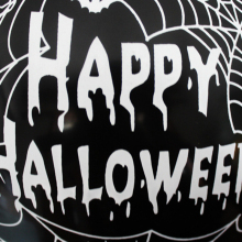 10 PCs Pumpkin Spider Web Pattern Latex Balloons Scary Decor