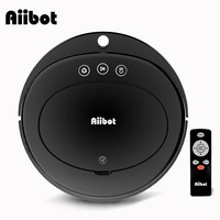 Aiibot Robot Vacuum Cleaner & Strong Suction Infrared Sensors & Intelligent Cleaner with Remote Control (Black D3)