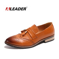 Men S Classic Dress Shoes Slip On New 2015 Fashion Leather Tassel Mocassins Men Shoes Loafers