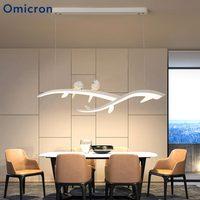 Işıklar ve Aydınlatma'ten Kolye ışıkları'de Omicron Yaratıcı Kolye Işıkları Beyaz Şube Kuş Yaratıcı Süspansiyon Lambası Restoran Yemek Odası Için Armatür