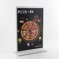 Metal A4 Double Sided Table Advertising Display Stand Poster Stand KT Board Sign Holder Menu Display