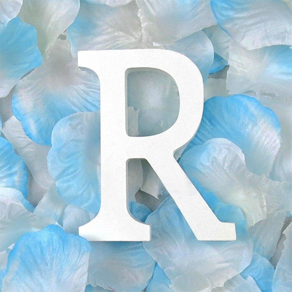 3D деревянные буквы letras decorativas персонализированное Имя Дизайн Искусство ремесло деревянные украшения letras de madera houten буквы - Цвет: R