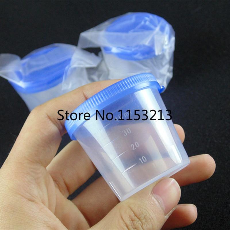 50pcs/bag 40ml Plastic vials Hand press cover Plastic Urine Cup