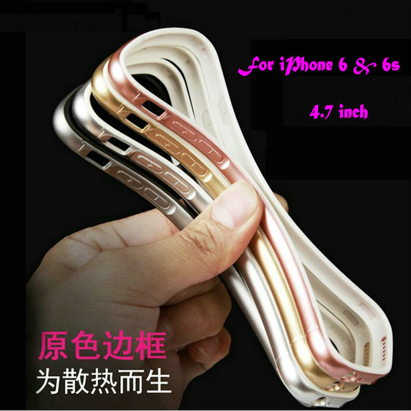 For iphone 6s case Frame, Luxury soft TPU Bumper Silicone case mobile phone Gel border For iPhone 6 & 6s 4.7