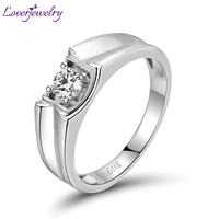 Top Quality Natural 4mm Round VS Solitaire Diamond Rings For Wedding In Solid 18K White Gold