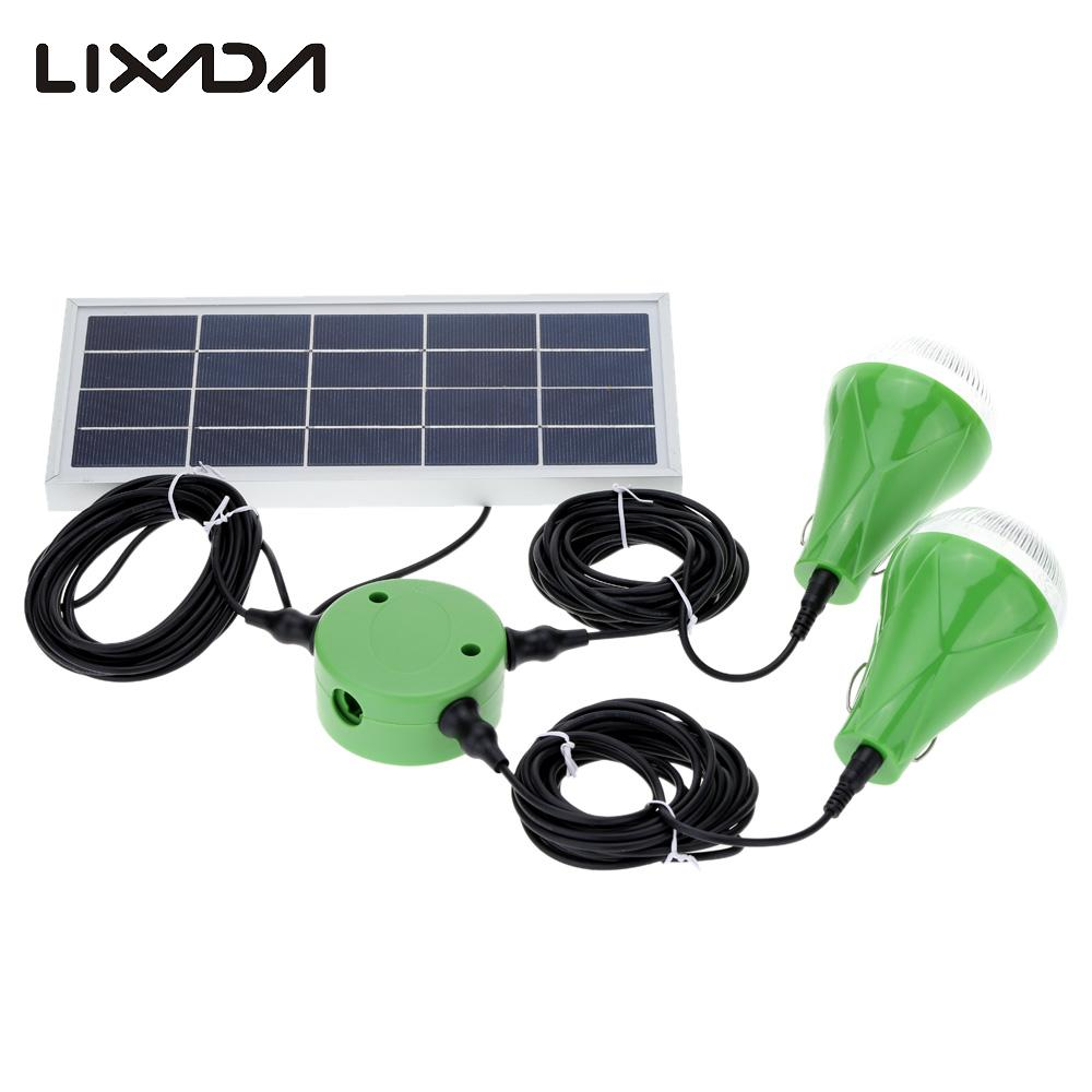 Solar led light with 2pcs bulb lamp 5w practical lighting - Led light bulbs for exterior use ...