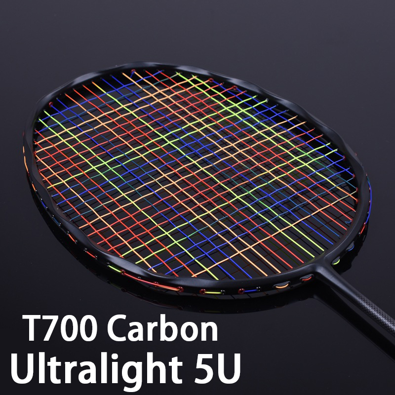 Professional Ultralight 5u Original Carbon Fiber Badminton Rackets Strings Sports Racquet Offensive Type Racket G5 32LBS Z Speed