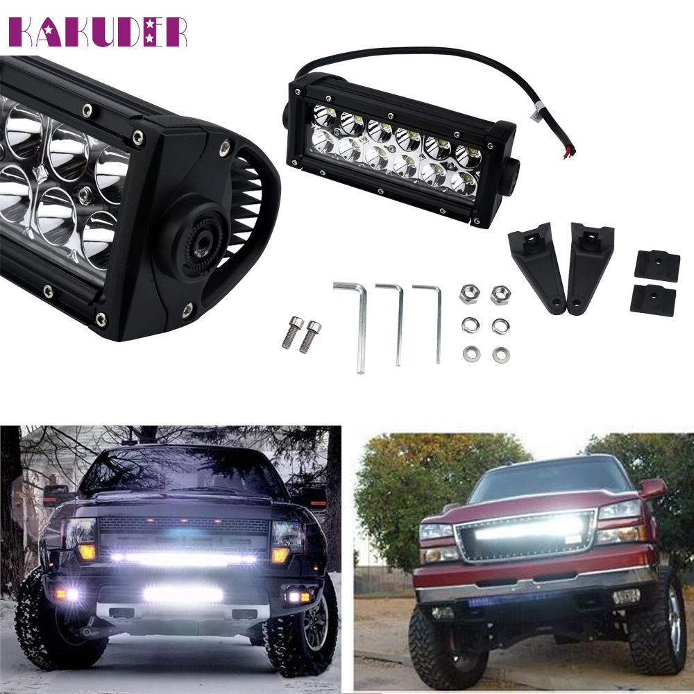 New 7INCH 36W for  Led Work Light Bar Flood Driving Fog Offroad For Jeep Truck A7 SUV mar29 new 22 120w led work light bar 12v spot flood combo high power 8800lm for boat offroad 4x4 truck suv atv jeep driving fog lamp