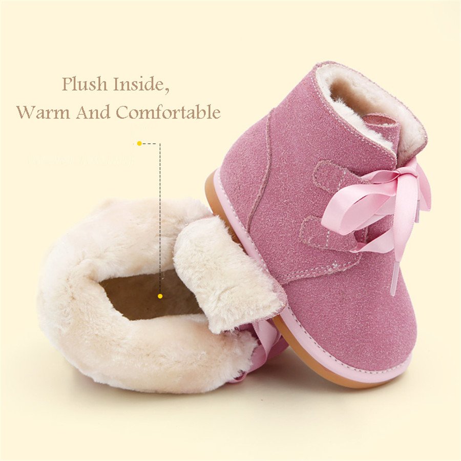 2017 Baby First boots for girl Soft Bottom Baby's Bootees Non-slip Footwear Winter Baby Shoes Girls Booties Snow Footwear 70A101 baby shoes first walkers baby soft bottom anti slip shoes for newborn fashion cute soft baby shoes leather winter 60a1057