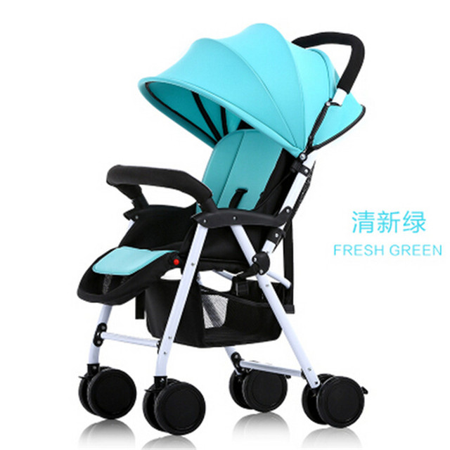 European baby strollers Baby stroller high landscape stroller folded four shock absorbers can sit or lie baby lightweight