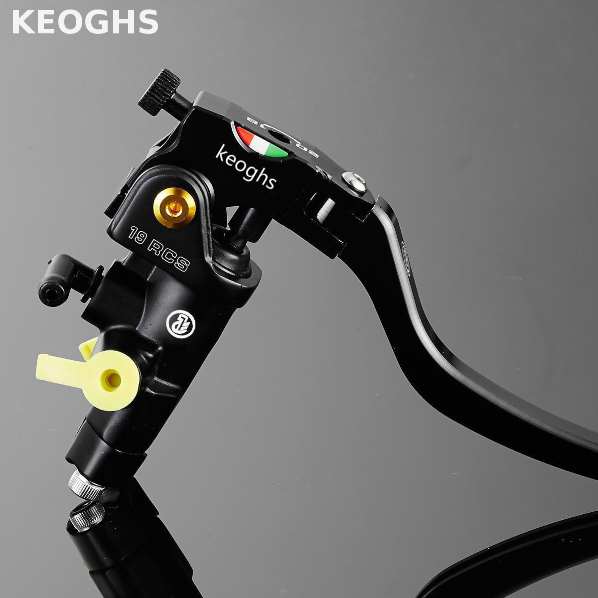 KEOGHS Motorcycle 22mm 7/8'' Universal Brake Master Cylinder Left And Right Cnc Aluminum Hydraulic Brake System For Honda Yamaha for honda cb600f cb900f hornet cb1000r motorcycle upgrade front brake system radial brake master cylinder