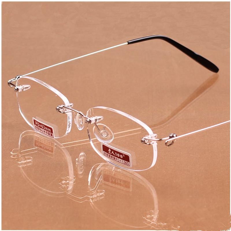 Top Grade Ultralight Frameless Reading Glasses Unisex High ...