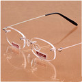 Top Grade Ultralight Frameless Reading Glasses Unisex High-Definition Rimless glasses Best-selling Free Shipping ChristmasCI1044