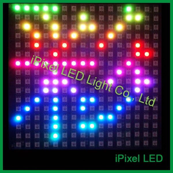 DC5V adressable apa102 matrice 16x16 pixels panneau avec PCB noir flexible