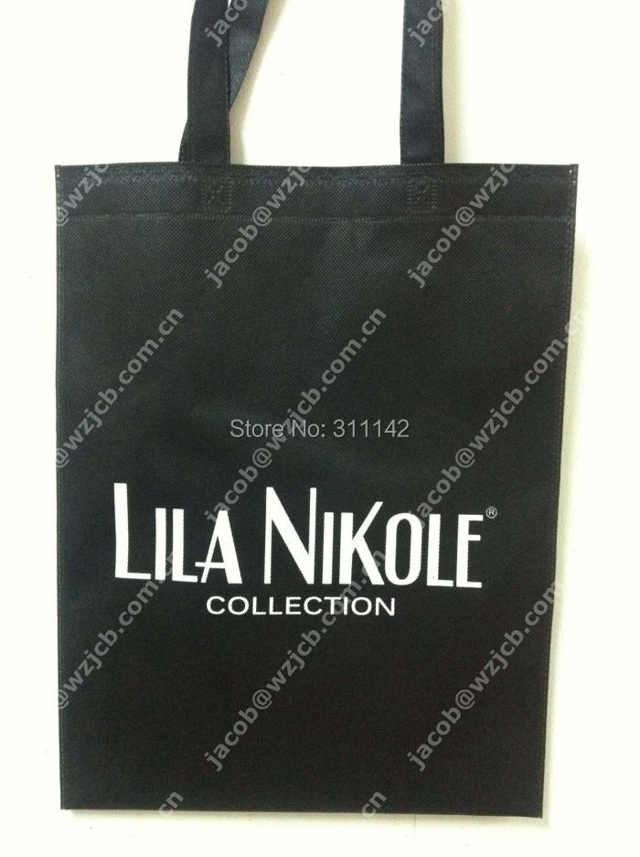 Non Woven Bag Black Customized Logo With Free Shipping By Fedex 500pcs Per Lot