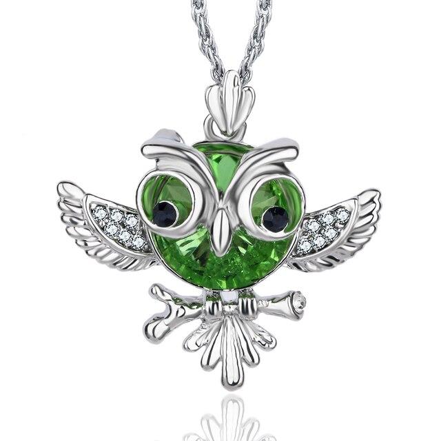 Crystal Owl Pendant