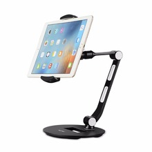 Stylish Aluminum Tablet Stand, Cell Phone Stand, Folding 360 Swivel Desk Mount Holder fits 4-11
