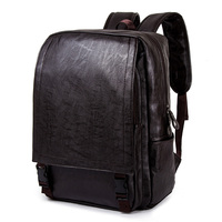 Men Backpack Softback Business Male Laptop Backpacks Men's Bag Travel PU Leather Bagpack Waterproof Computer Man Backpack School