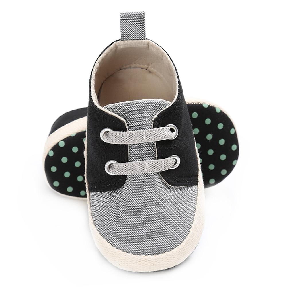 Купить с кэшбэком Brand Baby Boy Crib Shoes for Girls Elastic Band Newborn Footwear Infant Shoes Toddler Loafers Child Non-slip Soft Sole Slippers