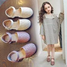 Girls sandals 2019 summer new children's toddler shoes fashion wild princess shoes Roman style dance show breathable kids shoes