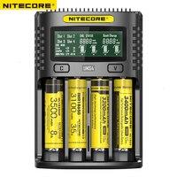 NITECORE UMS4 Intelligent Четыре слота QC Быстрая зарядка 4A большой ток мульти-совместимое зарядное устройство USB