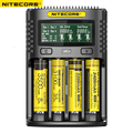 NITECORE UMS4 Intelligente Vier-Slot QC Schnelle Lade 4A Großen Strom Multi-Kompatibel USB Ladegerät