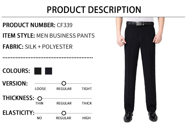 HTB1aP0Wmv5TBuNjSspmq6yDRVXaH Summer Men Business Thin Silk Pants 29-50 Male Big Size Formal Classic Black Breathable Office Baggy Suit Trousers For Mens