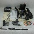 Completa Tattoo Kit Iniciante Set Tattoo Machine Gun Power Supply Kit Set Abastecimento Agulha Aperto Dica Combo TKS122 #