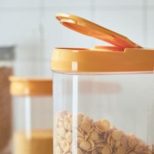 Image 3 - פלסטיק מתקן אחסון קופסות שימור מטבח מזון גרגרים אורז סיר מיכל מטבח אורז אחסון תיבת קמח תבואה אחסון
