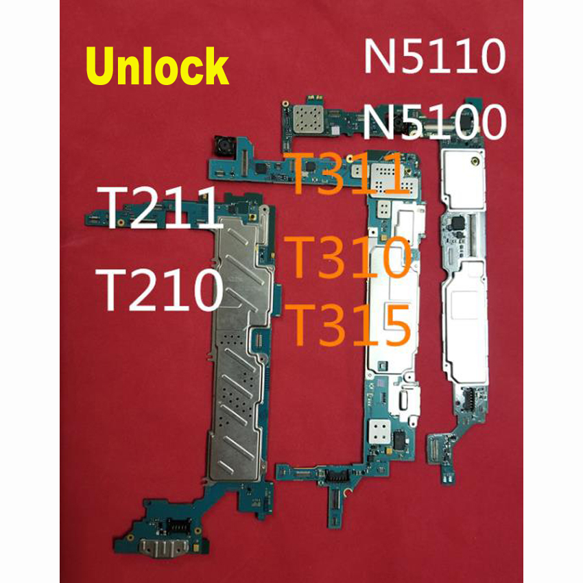 Tested Full Work Unlock Motherboard For Samsung Galaxy T311 T310 T315 T210 T211 T805 T800 T700 N5100 N5110 N8000 Mainboard