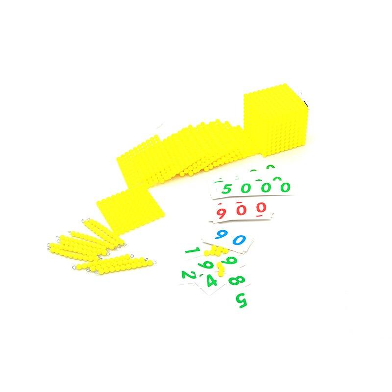 Montessori Enfants Jouet Bébé base décimale Banque Jeu de Jeu - Concepteurs et jouets de construction - Photo 2