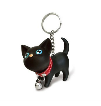 Cartoon Cat Kitten Lovely Key Rings Chains Keychain Bags Pendant Ornament Toy for Kids