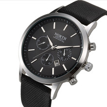 Mens Watches NORTH Brand Luxury Casual Military Quartz Sports Wristwatch Leather Strap Male Clock watch relogio masculino