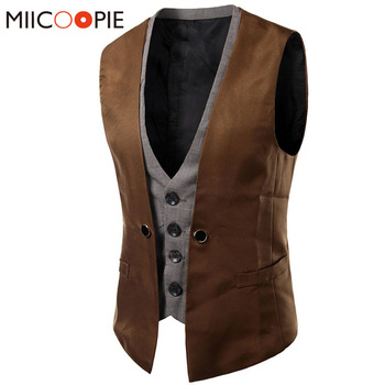 Suit Waistcoats British Style Wedding Groom Casual Blazer