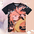 Japanese Anime Black Bullet Aihara Enju T-shirt Polyester T Shirt Summer Active Otaku Men Women Clothing
