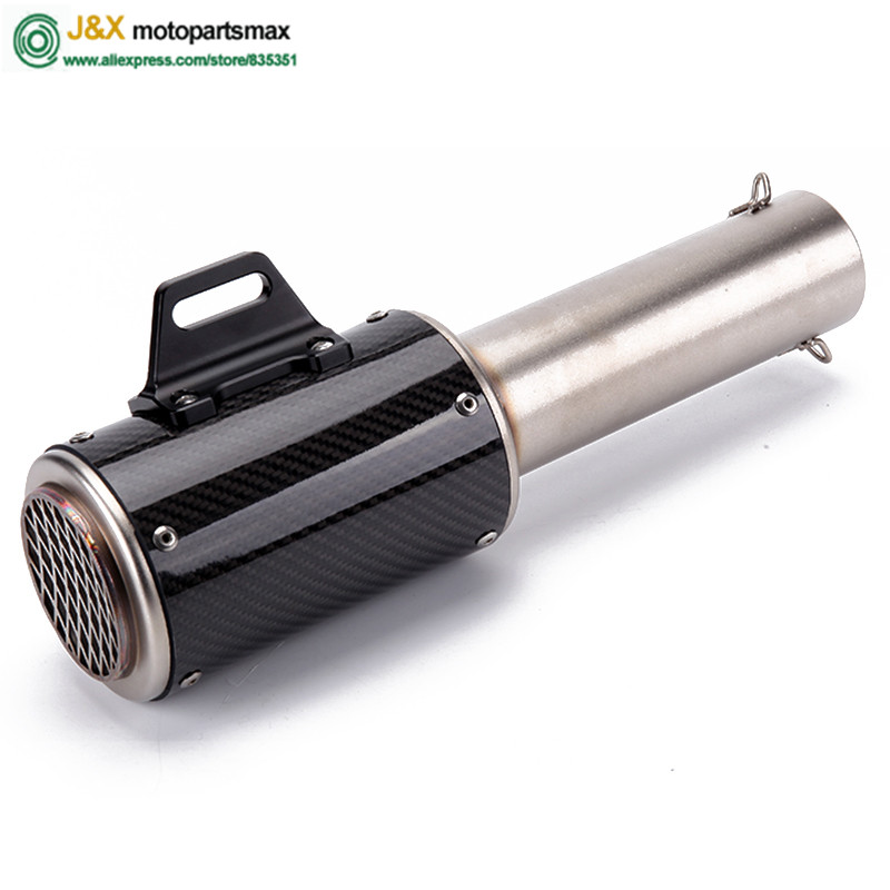 Universal 36~51mm Motorcycle  Exhaust Muffler Slip On for Most Motorbike advice 350CC to 750CC