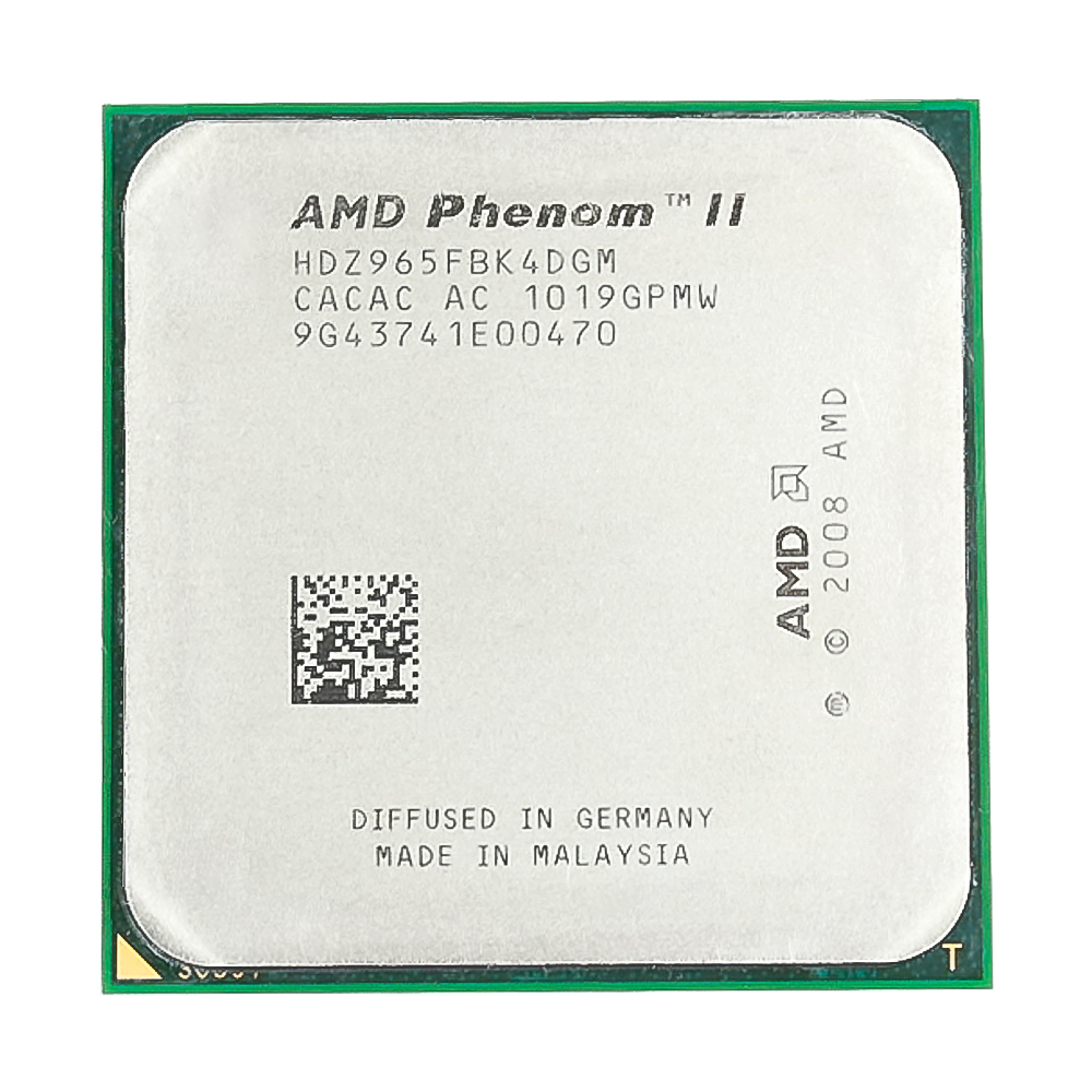 <font><b>AMD</b></font> Phenom II X4 965 <font><b>CPU</b></font> Processor 3.4GHz 6MB L3 Cache Socket <font><b>AM3</b></font> Quad-Core image