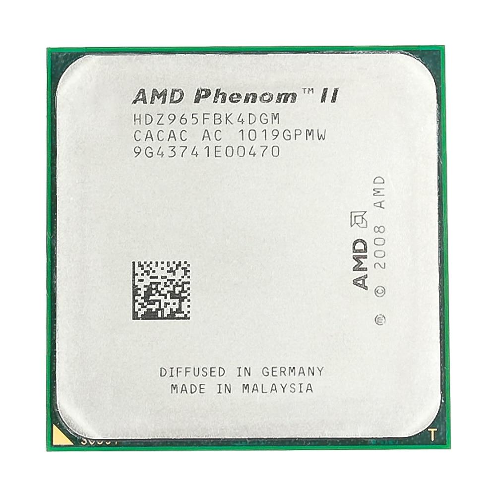 AMD Phenom II X4 965 CPU Processor 3.4GHz 6MB L3 Cache Socket AM3 Quad-Core