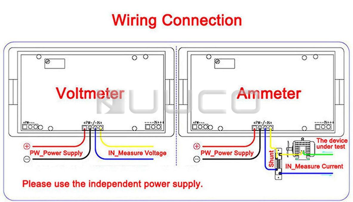 medium resolution of 2 wires voltage current measure gauge ac 200 500v 100a blue backlight lcd voltmeter ammeter current transformer 100131usd 15 32 piece
