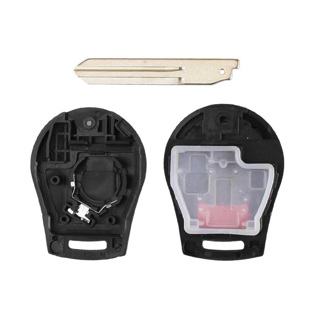 Dandkey 2 кнопки Smart флип складной удаленный ключевой чехол Стайлинг для Nissan Cube Altima Maxima Sentra Versa Fob NSN14 лезвие