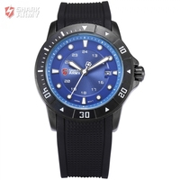 New Military Sport SHARK ARMY Men S Luxury Analog Quartz Date Display Silicone Band Wrist Watch