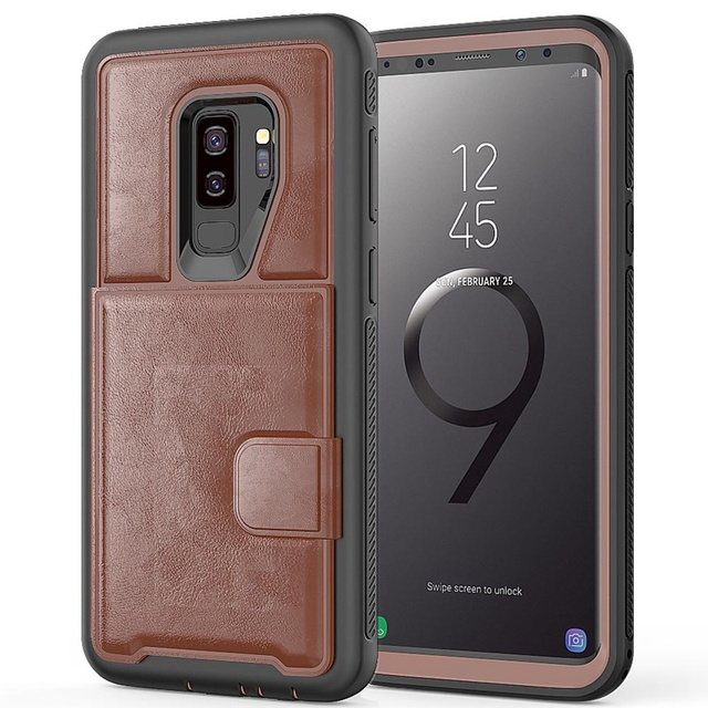 Multifunction Card Slot Leather Stand Back Cover Case Wallet for Samsung Note 9 Case Magnetic Pouch for Samsung Galaxy S9 Plus