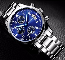 Top Luxury Brand Men Sports Watches Men's Quartz Hour Date Clock Man Stainless Steel Band Military Army Waterproof Wrist Watches