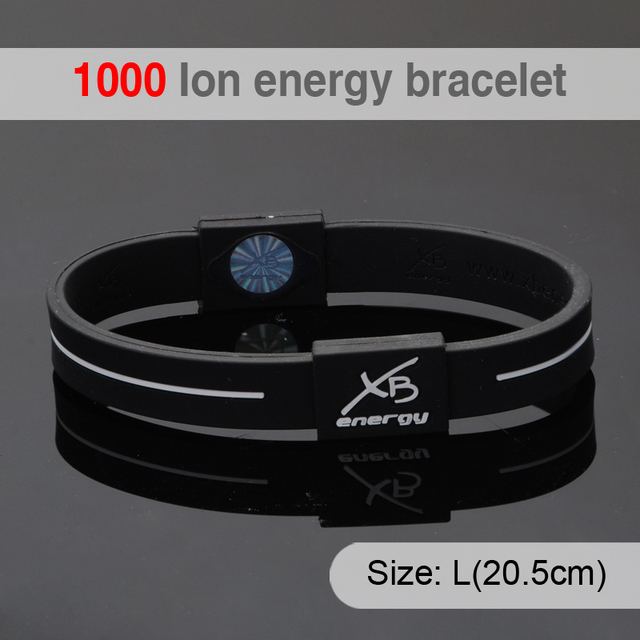 Customized Negative Ion Energy Men Bracelet Personalized Silicon Wristband For Best Friends Hologram Silicone Bracelets