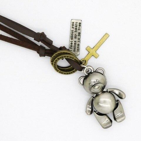 Новое модное ювелирное изделие мужское ожерелье с медведем Панк